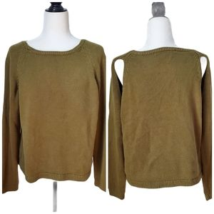 & Other Stories Olive Green Sweater w/ sli…